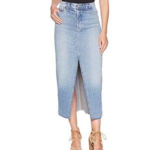 Joe's Jeans Long Split Front Denim Maxi Skirt